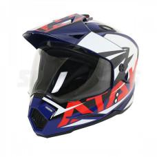 Шлем (мотард) Ataki JK802 Rampage синий/..