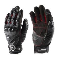 Перчатки (кожа) Masontex М012 черный/кра..