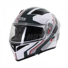 Шлем (модуляр) Ataki JK902 Shape белый/с..