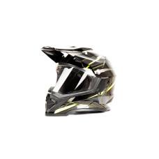 Шлем (мотард) HIZER B6197-1 (M) чернжелт..