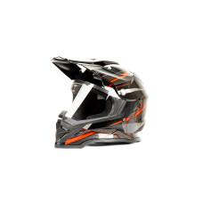 Шлем (мотард) HIZER B6197-1 (M) чернкрас..