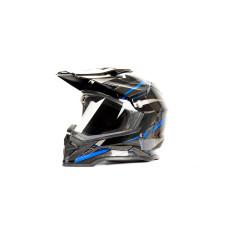 Шлем (мотард) HIZER B6197-1 (M) чернсин..